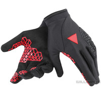 Wholesale red racing gloves resale online - 2019 Dain Motorcycle Dirt Bike Red Gloves Full Finger Moto Racing Skiing Climbing Cycling Riding Sport Windproof Motocross Glove