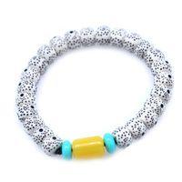 bracelet en cire d'abeille achat en gros de-New Fashion Fashion Star Moon Bodhi Bracelet avec des perles de cire d'abeille blanche Livraison gratuite