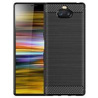 xperia silikon kılıf toptan satış-Karbon Fiber Doku Darbeye Kapak Koruyucu Slim Fit Yumuşak TPU Silikon Kılıf Sony Xperia 10 / Xperia 10 artı / Xperia XA2 / XA2 Artı