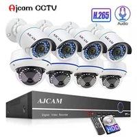 cctv kit cúpula al por mayor-H.265 8CH 1080P POE NVR kit de audio de sonido CCTV Sistema de 2.0MP domo IP de cámaras de seguridad de interior P2P Video Al aire libre Conjunto de Vigilancia