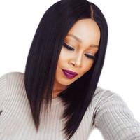 brazilian remy saç fiyatı toptan satış-Fabrika Fiyat Dantel Ön İnsan Saç Peruk Brezilyalı Bob Kesim Sınıf Bakire Remy İnsan Saç Siyah Kadınlar Için Tam Peruk Xiuyuanhair