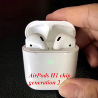Wholesale earplug bluetooth for sale - Group buy Supercopy Airpods latest second generation wireless charging Bluetooth headset with sensor H1 earplugs pk Airpods W1 chip real battery A