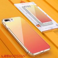 yeni net mobil toptan satış-LEEU TASARıM yeni degrade renk temizle darbeye dayanıklı tpu temizle sert geri akrilik cep telefonu kılıfı kılıfları iphone x xs max 7 8 artı xr