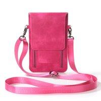 telefones com zíper venda por atacado-Moda Double Zipper Design Crossbody Sacos para As Mulheres De Couro Pu Mini Messenger Bag Feminino Saco Do Telefone Móvel Menina Ombro