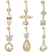 ingrosso piercing della pancia del corpo-Anelli a forma di ombelico Piercing in oro Piercing in oro Piercing per donne