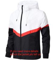 chaquetas al por mayor-Diseñador de la marca de la chaqueta 2018 moda marea chaqueta de la chaqueta para hombre letras impresas de lujo para hombre con capucha deporte casual al aire libre ropa rompevientos L-4XL