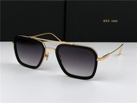 защитные очки uv оптовых-Новый модный дизайнер мужской солнцезащитные очки 006 квадратных оправ винтаж популярный стиль уф 400 защитные очки на открытом воздухе