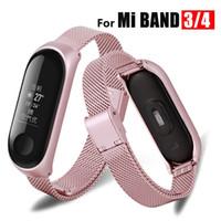 metallband armbänder großhandel-Mi Band 3 Wrist Strap Metall Screwless Edelstahl Ersatz für Xiaomi Mi Band 4 Strap Armband Miband Wristbands Pulseira