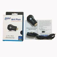 m3 tv оптовых-AnyCast M2 / M3 / M4 Plus Wi-Fi iPush Дисплей ТВ Приемник Dongle 1080 P Airmirror DLNA Airplay Miracast HDMI Android iOS TV Stick для HDTV
