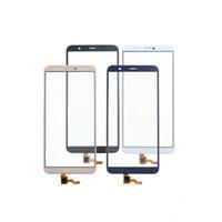 huawei yedek cam ekran toptan satış-10 ADET 5.65 '' Huawei P Akıllı dokunmatik ekran için yüksek kalite yedek Sayısallaştırıcı Açık Sensörü Cam Panel Lens