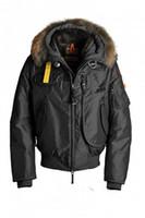 marka kış ceketi kürk erkek toptan satış-Soğuk Polar en kaliteli Kış erkek Aşağı Ceket Su Geçirmez Parka Kürk Yaka Hombre Coat 100% Beyaz Ördek Aşağı Spor Marka Rusya Norveç