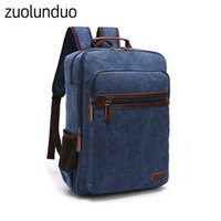 Wholesale best selling laptops for sale - Group buy Best selling new retro canvas backpack casual men and women shoulder bag large capacity wear resistant travel bag laptop bags