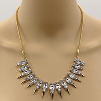Wholesale goth pendants resale online - Rivets Chokers Necklaces Punk Goth Handmade Imitation Crystal Necklace Spike Rivet Rock Gothic Color Gold Chain Necklace