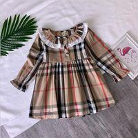 saf pamuklu kız elbiseleri toptan satış-Yeni Ürün Saf Pamuk çocuk Etek 2019 Yaz Prenses Etek Kız Qunshan Çocuk çocuk Etek Kız Bile Elbise