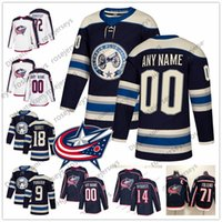 Wholesale columbus jersey for sale - Group buy Custom Columbus Blue Jackets Navy Third Jersey Any Number Name men women youth kid White Gustav Nyquist Atkinson Dubois Texier Nash