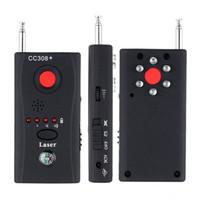 поиск ошибок оптовых-CC308 + Беспроводной детектор объектива камеры Радиоволновый сигнал Обнаружение камеры Полнофункциональный Wi-Fi RF Singnal Bug Laser GSM Device Finder