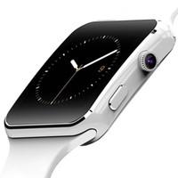 iphone'lar toptan satış-2019 Sıcak Satış Kamera ile Smart İzle X6 Smartwatch Bluetooth Smartwatch Destek Android ve iPhone'lar için