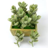 künstliche pflanzen desktop großhandel-12 stücke Min Gefälschte Sukkulenten Faux Sukkulenten Künstliche Echeveria UNPOTTED Gefälschte Kaktus Blumengesteck Brautsträuße Garten Decor