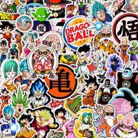 bilardo bilgisayarı toptan satış-50 adet Dragon Ball Anime Kişilik DIY Su Geçirmez Etiket Bagaj Cep Bilgisayar Cep Telefonu Kaykay Gitar Buzdolabı