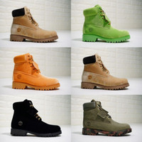 Wholesale buckle knee high wedge boots for sale - 2018 New timber Off botas Mens Boots Designer Sneakers Casual Men Trainers White Orange Green Black Velvet Womens Snow Brand winter boots