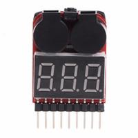 tester niederspannung großhandel-1-8S Lipo / Li-Ion / Fe RC Boot Batterie 2 in 1 Tester LED Low-Voltage-Summer-Warnung Prüfwerkzeuge