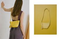 bolso de mujer amarillo al por mayor-Caker Brand 2019 Mujeres PU de cuero amarillo borla bolso de moda bolsos de hombro al por mayor envío de la gota