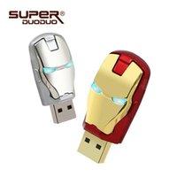 ingrosso buona unità flash-Buona qualità Grande capacità Iron man pendrive 4 gb 8 gb Metallo impermeabile pen drive 16 gb 32 gb 64 gb chiavetta usb usb flash drive U disco regalo usb