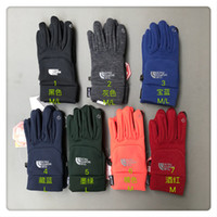 gants d'extérieur imperméables achat en gros de-Gants en molleton de marque NF hiver gants chauds pour écran tactile The North Men Women face gants de mitaines imperméables Sports de plein air Vélo porter DHL