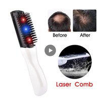 infrarotkamm großhandel-Elektrischer Haarwuchs Kamm-Haar-Styling-Verlust Wachstum Behandlung Kamm Infrarot-Stimulator Massage makup Pinsel