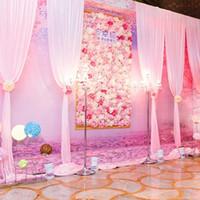 ortanca düzenlemeler toptan satış-Düğün Arka Plan Çiçek Duvar Simüle Çiçek Dükkanı Pencere Dekorasyon Gül Ortanca Halı Ipek Sahte Çiçek Sahne Düzenlemesi