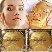 ingrosso maschera di polvere viso oro-Maschera viso oro al collagene con trattamento al collagene in oro Bio Maschera antietà per il viso Maschera facciale al collagene in polvere color oro. Idratante