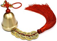 Wholesale chinese wind chime for sale - Group buy Chinese Feng Shui Bell for Wealth and Safe Pendant Coins for Success Ward Off Evil Protect Peace Also Can Used As Wind Chimes Car Inte