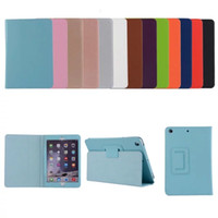Wholesale case for apple mini for sale - Group buy PU Leather Stand Tablet Cover Case for Apple Ipad Air Mini Samsung TAB T580 T380 Protective Case