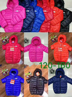 Wholesale winter parkas for kids resale online - brand face north Baby Winter Jackets Light Kids White Duck Down Coat Baby Jacket for Girls Boys Parka Outerwear Hoodies Puffer Coat