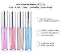 Wholesale lip tints for sale - Group buy HANDAIYAN Colors glow glitter shimmer Mermaid Lipgloss Lip Tint Moisturizing waterproof metal Long Lasting liquid Lip Gloss Lip Balm