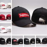ingrosso pannello di testo-supreme 2019 cappelli del progettista di marca cappucci uomini donne berretto da baseball autunno e inverno selvaggio casual ins moda hip hop cap