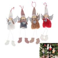 Wholesale white house christmas ornament resale online - Christmas Decoration Pendant FestivalCute Angel Plush Doll House Ornaments Christmas Tree Creative Decorative Accessories