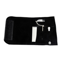 Wholesale leather pipe case resale online - Leather Tobacco Pouch Bag and Snuff Snorter Tool Sniffer Straw Hooter Hoover Pouch Bag Pipe Case Pocket