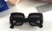 Wholesale sunglass for sale - new fashion women brand designer sunglass R square sunglass crystal frame with bling sunglass big fashion frame with pink case