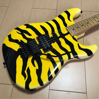 Wholesale graphics professional resale online - Custom Made New GL MT George Lynch Yellow Tiger Graphic Electric Guitar Black Flyods Rose Tremolo