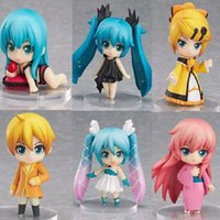 Wholesale vocaloid hatsune miku action figure resale online - 6pcs set Scale Japanese Anime Action Figure VOCALOID Kagamine Rin Ren Hatsune Miku Selection Model Collection Cute Doll cm