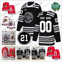 Wholesale red blackhawks jerseys resale online - Custom Chicago Blackhawks Winter Classic Jersey Any Number Name men women youth kid White Red Black Kirby Dach DeBrincat Kane Toews