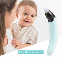 Wholesale nasal aspirator vacuum cleaner resale online - Baby Nasal Aspirator Electric Safety Nose Oral Cleaner Vacuum Suction Sniffling Equipment Ergonomic for Children Protection HHA366