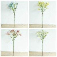 yapay ortancak gövdeleri toptan satış-Yapay Ortanca Çiçek Renkli Gypsophila Uzun Kök Sahte Çiçekler Buket Ev Dekorasyon Babys Nefes Ipek Çiçek Düğün Parti LXL156