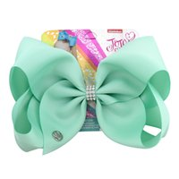 Wholesale clip hairbow online - Jojo Bows Hair bows for Girls Siwa Style Kids baby bowknot Hair clips Christmas Jojo Hairbow Accessories Birthday gift hairbow barrettes