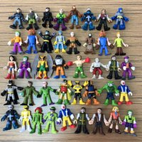 super-heróis dc venda por atacado-random 7 pcs / lot DC Super Herói Batman Flash Harley Quinn Joker Poison Ivy Robin Catwomen Calendar Man 2in Action Figure Toys Gift