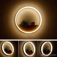 banheiro da lâmpada de parede venda por atacado-Levou lâmpada de parede led sconce luz acrílico moderna decoração de parede luz da parede para o quarto de cabeceira / sala de jantar / banheiro com lâmpadas
