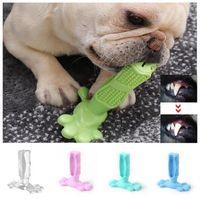 juguetes de dientes molares al por mayor-Diente de perro creativo del cepillo de dientes cepillado Juguete Palo Molar Molar varilla Pet Cepillo de dientes para dientes del perro de perrito de la salud de limpieza juguete del Chew de cepillo