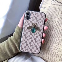 Wholesale quicksand case for samsung online – custom Luxury Designer Phone Cases for iPhone Pro Max s plus XS MAX XR With Bee logo Drop Shipping