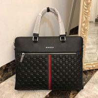 Wholesale hard briefcases for men for sale - Group buy Luxury Designer Mens Laptops Bags Crossbody Messenger Briefcase Bag Black Trim Shoulder Business Handbags For Man Fashion Platform Handbag